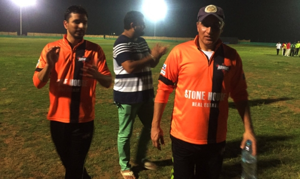 Amjid khan - 63 of 34 balls against SCC